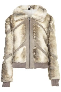 faux fur bomber jacket - top shop