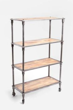 industrial chic bookcase  Heritage Bookshelf - Urban Outfitters