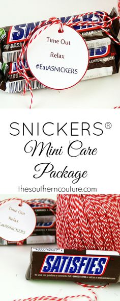 Surprise someone special with this mini care package to help them relax before they get hangry. Get all the details at thesoutherncouture.com. #EatASNICKERS #ad