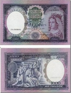 1000 escudos d filipa de lencastre santa nostalgia Foreign Coins, Coin Collecting, Postage Stamps, Nostalgia, World, Internet, Rare Coins, Old Coins, Report Cards