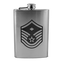 8Oz Air Force Rank - Master Sergeant - Flask L1