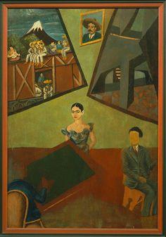 Frida Kahlo. Pancho Villa and Adelita. Museo de Arte de Tlaxcala. before1927.