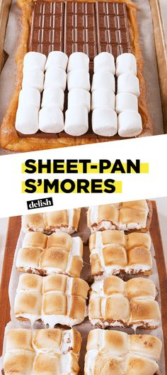 Pan S'mores This is the EASIEST way to make s'mores for your summer crowd.This is the EASIEST way to make s'mores for your summer crowd. Desserts For A Crowd, Party Desserts, Just Desserts, Delicious Desserts, Yummy Food, Simple Dessert Recipes, Awesome Desserts, Smores Dessert, Dessert Bars