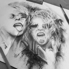 """Back to it ✏️✏️✏️ #art #artnerd #mastersportrait #moleskin #sketchaday #sketch #drawing #charcoal #instaart  #edgeprogear #sketchbook #ArtNerdsUnite"" Photo taken by @chrissimsart on Instagram, pinned via the InstaPin iOS App! http://www.instapinapp.com (08/19/2015)"