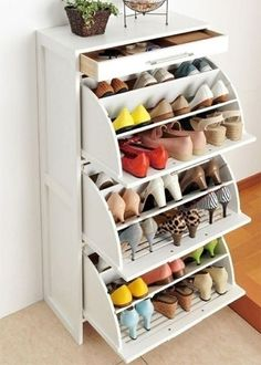 shoe storage idea for small flats