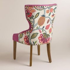Timeless Grace Floral and Pink Linen Maxine Dining Chair | World Market