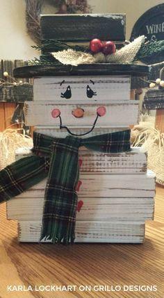 Make a cute spindle snowman!