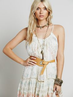 B-low the Belt Wind Leather Belt at Free People Clothing Boutique