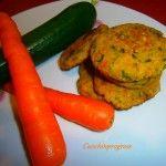 Polpette di zucchine e carote al forno