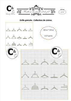 Grille gratuite point de croix - Collection de cintres