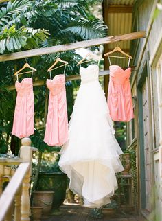 Coral Bridesmaid dresses - Photography by Jana Morgan Photography / janamorgan.com, Event Planning by Belle Destination Weddings