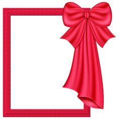 red bow frame