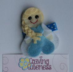 Princess Elsa Inspired Hair Clip Frozen por CravingCuteness
