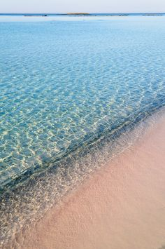 Pink sand - Elafonisi Beach, Crete, Greece
