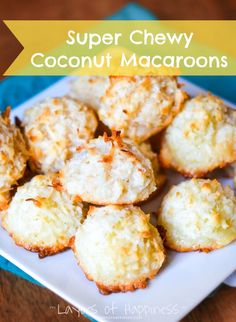 Almond Macaroons Bakery-Style Coconut Macaroons - Layers of Happiness I dipped the bottoms in chocolate. These cookies stayed fresh far longer than I expected. tube of almond paste is about Grate it, otherwise you are in for a workout. Almond Paste Cookies, Coconut Cookies, Almond Macaroons, Recipe For Coconut Macaroons, Gluten Free Coconut Macaroons, Chocolate Macaroons, Chocolate Ganache, Macarons, Biscuits