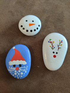 Cute decorative Christmas rock set for sale. $30 + shipping and handling Painted Rocks For Sale, Christmas Rock, Rock Crafts, Gel Nails, Stones, Hand Painted, Cute, Decor, Gel Nail