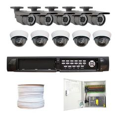 """Complete High End 16 Channel Real Time (2T HD) DVR Surveillance CCTV System Indoor/Outdoor Security Camera Package w/ 10 x 1/3"""" Sony Exview HAD CCD II Effio-E DSP Devices, 700 TV Lines, 2.8~12mm Varifocal Lens Outdoor Indoor Cameras by Gw. $1580.00. Package includes:  GW9016V - 16 channel network DVR with 2T HDD; CD with manual and software; 5 x GW50WD - 1/3"""" Exview HAD CCD II with Effio-E DSP Devices Camera; 5 x GW727WD - 1/3"""" Exview HAD CCD II with Effio-E DSP De..."""