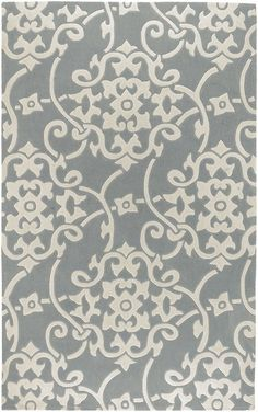 gray damask pattern - accent wall wallpaper?