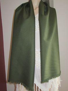 """Colour Men's fringe scarf~60""""scarf Mens Fringe, Fringe Scarf, Long Fringes, Long Scarf, Green Colors, Tartan, Olive Green, Wool Blend, Custom Made"""