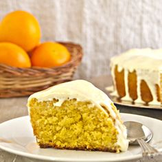 An orange bundt cake soaked in orange syrup and covered in a cream cheese glaze. Celebrate with citrus!