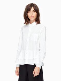 poplin ruffle shirt | Kate Spade New York