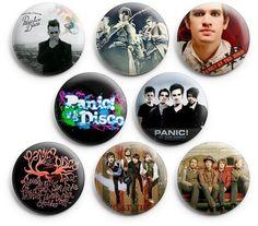 "Panic At The Disco Pinback Buttons Pins Badges 1.25"" 8 Pcs"