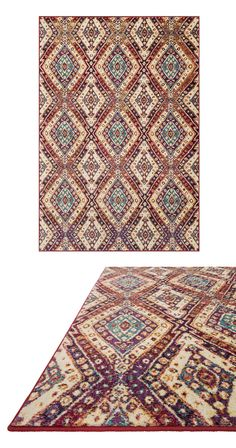 The perfect rug can take a sophisticated space from pleasant to perfect. Decorated with intricate, multicolored geometric patterning, this Tarrah Rug will elegantly elevate your dining room or entryway...  Find the Tarrah Rug, as seen in the Bohemian Meets Mid-Century Collection at http://dotandbo.com/collections/bohemian-meets-mid-century?utm_source=pinterest&utm_medium=organic&db_sku=116888