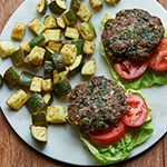 Atkins welcomes you to try our delicious Greek Hamburger with Feta and Roasted Zucchini Salad recipe for a low carb lifestyle. Get started by browsing our full list of ingredients here.