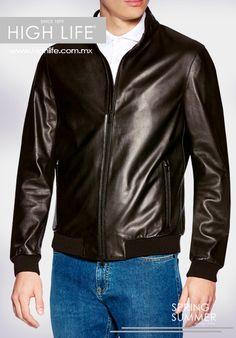 Muestra el poder de tu carácter y viste una chaqueta de cuero sin abandonar el donaire. #ZZegna