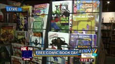 Kenny Selects Comic Books to Match FOX 8 Anchors