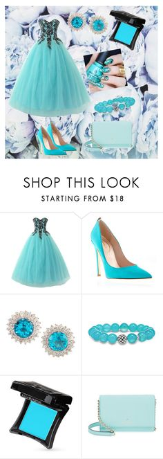 """Blue bridesmaid"" by ashleyhuang68 ❤ liked on Polyvore featuring Lagos, Illamasqua and Kate Spade"