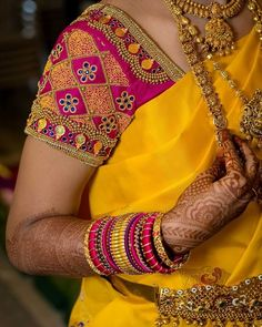 Blouses are the heart of your wedding attire, so here's a board completely dedicated to wedding saree blouses for you to take inspiration! Source by Cutwork Blouse Designs, Wedding Saree Blouse Designs, Pattu Saree Blouse Designs, Fancy Blouse Designs, Blouse Neck Designs, Wedding Sarees, Wedding Blouses, Sari Bluse, Hand Work Blouse Design