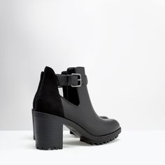 ZARA - SHOES & BAGS - OPEN TRACK SOLE BOOTIE- these are beautiful; need