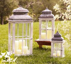 Decor Look Alikes | Save 119.00 @ Home Decorators vs Pottery Barn Park Hill Windowpane Lantern