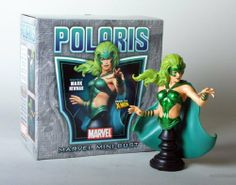 Polaris Mini-Bust by Bowen Designs by Bowen Designs. $67.99. Polaris, daughter of Magneto, comes to you in her classic costume.  Sculpted by Mark Newman for Bowen designs, she features a meticulously detailed sculpt and is ready to display right out of the box, just like all Bowen Designs statues and busts!  Polaris stands in at about 7 inches tall.  Don't let this one slip away!