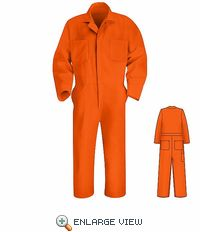 AWA Orange Twill Action Back Coveralls
