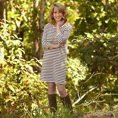 Ladies Mocha Stripe Cotton Dress – Lolly Wolly Doodle