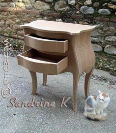 Voiture 2cv en carton construire leolandia maquette en - Construire des meubles en carton ...