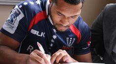 Box Hill Bronco Sefanaia Naivalu becomes first Victorian Rugby Union Dewar Shield player signed by the Melbourne Rebels Dotted Line, Rugby, Rebel, Melbourne, Adidas Jacket, Victorian, Club, Box, Sports