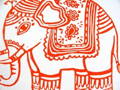 Hey, I found this really awesome Etsy listing at https://www.etsy.com/listing/86895676/linocut-print-ganesha-elephant-8x10-red