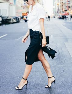 The 10 Fashion Pieces to Buy This Fall - this new skirt style is super swishy and sexy!