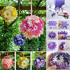 How to make flower balls diy diy crafts do it yourself diy projects flower crafts floral crafts flower balls