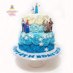 2 Tier Rosettes Frozen Cake - Storytale Cakes