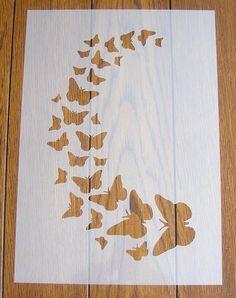 Butterfly Stencil Mask Reusable Mylar Sheet For Arts & Crafts & Garden Stencil Decor, Stencil Wall Art, Stencil Fabric, Wall Painting Decor, Stencil Painting, Fabric Painting, Stencil Templates, Stencil Patterns, Stencil Designs