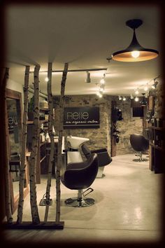 Relle | Organic salon|  Get this same look with The Margaux Styling Chair http://stand.sh/margaux, and purchase the matching backwash units with a white bowl http://stand.sh/margauxbackwash  #salon #salondecor #hairsalon #salonequipment #barber #barbershop #inspiration #design