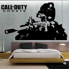 Call of Duty Ghosts Wall Stickers / Wall Transfer / Vinyl Wall Art Decal 3 | eBay