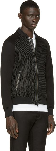 Mackage - Black Mesh Beck-S6 Bomber Jacket