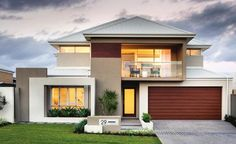 Webb & Brown-Neaves is an award winning Luxury Home Builder in Perth & WA. View our Custom Two Storey Homes Designs, find Display Homes & more. Double Storey House, 2 Storey House Design, House Front Design, Model House Plan, Dream House Plans, Modern Exterior House Designs, Modern House Design, Home Building Design, Building A House