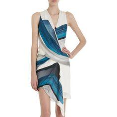Helmut Lang Surplice Tetra Dress.  dressologyhq.blogspot.com