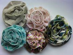 More fabric flowers